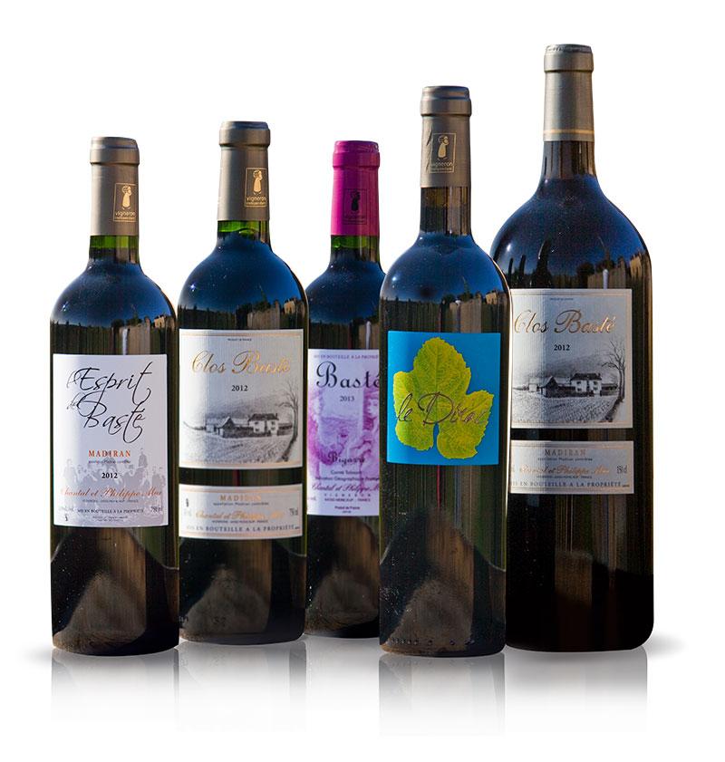 Collection de vins appellation Madiran et du Vic Bilh