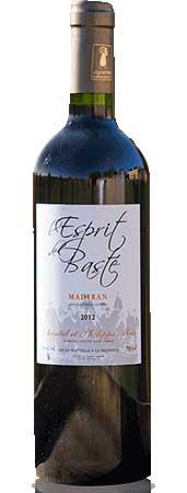 Un de nos vins du Clos Basté repésenté ici par : Esprit de Basté